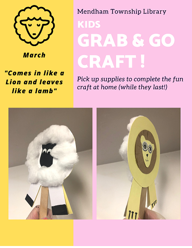 Lion Lamb Grab Go Crafts