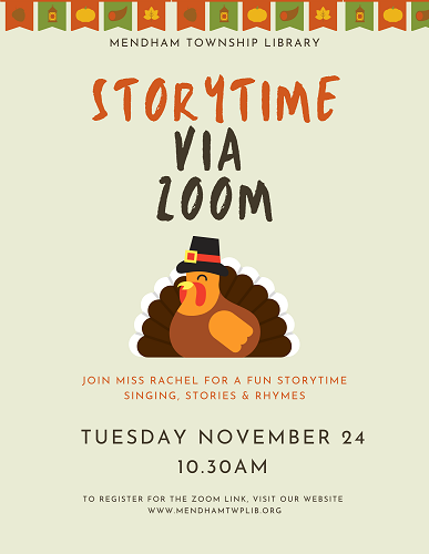 November Zoom Storytime